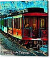 Durango Colorado Christmas Acrylic Print