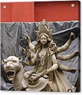 Durga In Kumartuli Acrylic Print by Shaun Higson