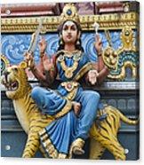 Durga Statue On Hindu Gopuram Acrylic Print