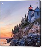 Dusk At Bass Harbor Light Acrylic Print