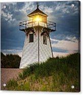 Dusk At Covehead Harbour Lighthouse Acrylic Print