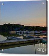 Dusk Dock 20140718 Acrylic Print