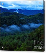 Dusk In The Smoky Mountains   Acrylic Print