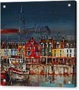 Dusk On Cobh Harbour Cork Acrylic Print