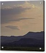 Dusk On The Yellowstone Acrylic Print
