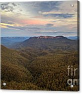 Dusk Over Mount Solitary Acrylic Print