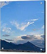 Dusk Over The Gallatin Range Acrylic Print