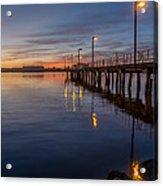 Dusk Settles On Del Norte Pier Acrylic Print