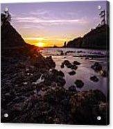 Dusk Skies Along The Coast Acrylic Print