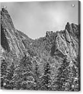 Dusted Flatiron In Black And White  Acrylic Print