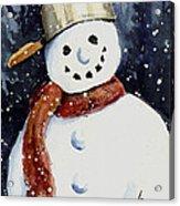 Dustie's Snowman Acrylic Print