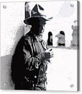 Dustin Farnum On  Set Of Light Of The Western Stars  Las Moros Ranch Southern Arizona 1918-2013  Acrylic Print