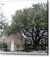 Dusting Of Snow At Church On Pennsylvania St Fort Worth Tx Acrylic Print