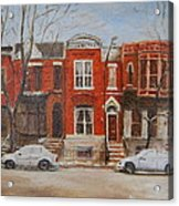 Dusting On Dickens Acrylic Print