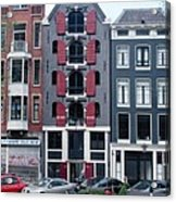 Dutch Canal House Acrylic Print