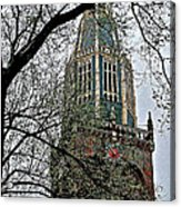 Dutch Reformed Church Tower In Enkhuizen-netherlands Acrylic Print