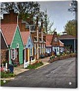 Dutch Shops On Windmill Island In Holland Michigan Acrylic Print