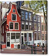 Dutch Style Traditional Houses In Amsterdam Acrylic Print