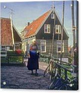 Dutch Traditional Dress Acrylic Print