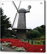 Dutch Windmill In Golden Gate Park Acrylic Print