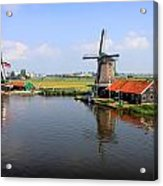 Dutch Windmills Acrylic Print