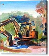Duty Dozer Acrylic Print by Kip DeVore