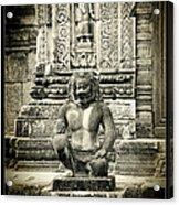 Dvarapala At Banteay Srey Acrylic Print