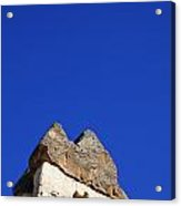 Dwelling Carved Out Of The Rock At Zelve In Cappadocia Turkey Acrylic Print