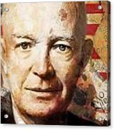Dwight D. Eisenhower Acrylic Print by Corporate Art Task Force