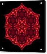 Dying Amaryllis IIi Flower Mandala Acrylic Print