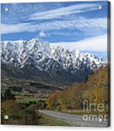 Dynamic Mountains  Acrylic Print by  Lines