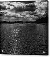 Dynamic Storm Over The Marsh Acrylic Print