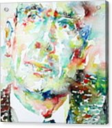 E. E. Cummings - Watercolor Portrait Acrylic Print