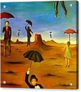 Spirit Of The Flying Umbrellas Edit 4 Acrylic Print