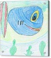 E' S Blue Fish Acrylic Print
