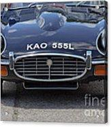 E Type Jaguar V12 Acrylic Print