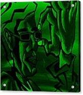 E Vincent Green Acrylic Print