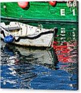 E17 Reflections - Lyme Regis Harbour Acrylic Print