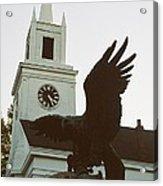 Eagle And Church Acrylic Print