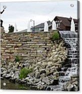 Eagle Center Waterfalls Acrylic Print