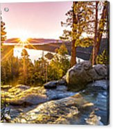 Eagle Falls Emerald Bay Lake Tahoe Sunrise First Light Acrylic Print