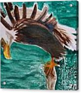 Eagle Fishing Acrylic Print