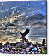 Eagle Fountain Acrylic Print