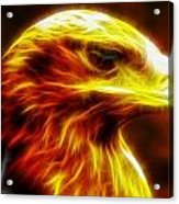 Eagle Glowing Fractal Acrylic Print