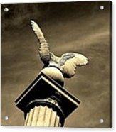 Eagle In Stone Acrylic Print