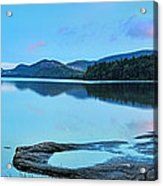 Eagle Lake Maine - Panoramic View Acrylic Print by Thomas Schoeller
