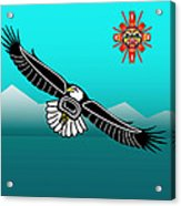 Eagle Over Olympics Acrylic Print