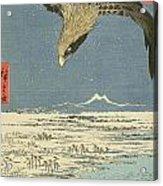 Eagle Over One Hundred Thousand Acre Plain At Susaki Acrylic Print