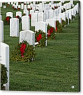 Eagle Point National Cemetery At Christmas Acrylic Print