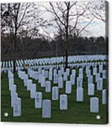 Eagle Point National Cemetery In Winter 1 Acrylic Print